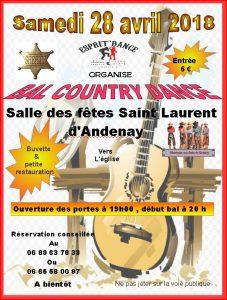 Affiche bal saint laurent d - andenay 2018